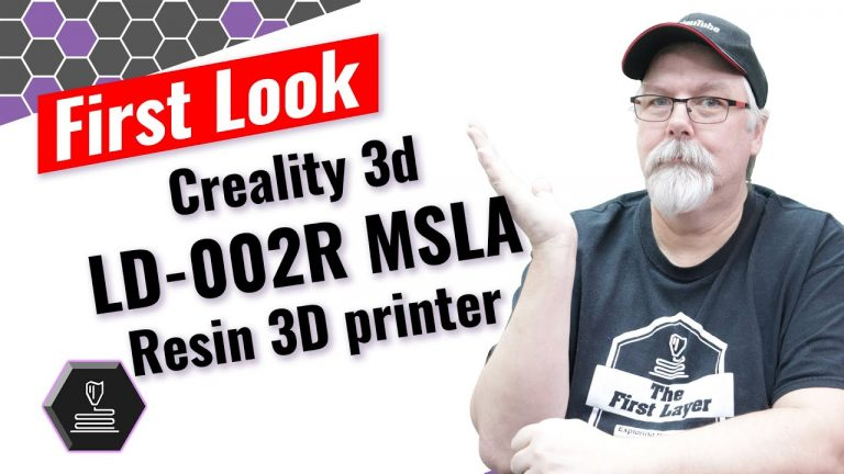 Creality3D LD-002R MSLA Printer: First Look